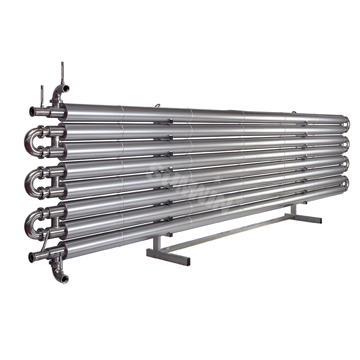 Stainless steel welded exchanger pipe