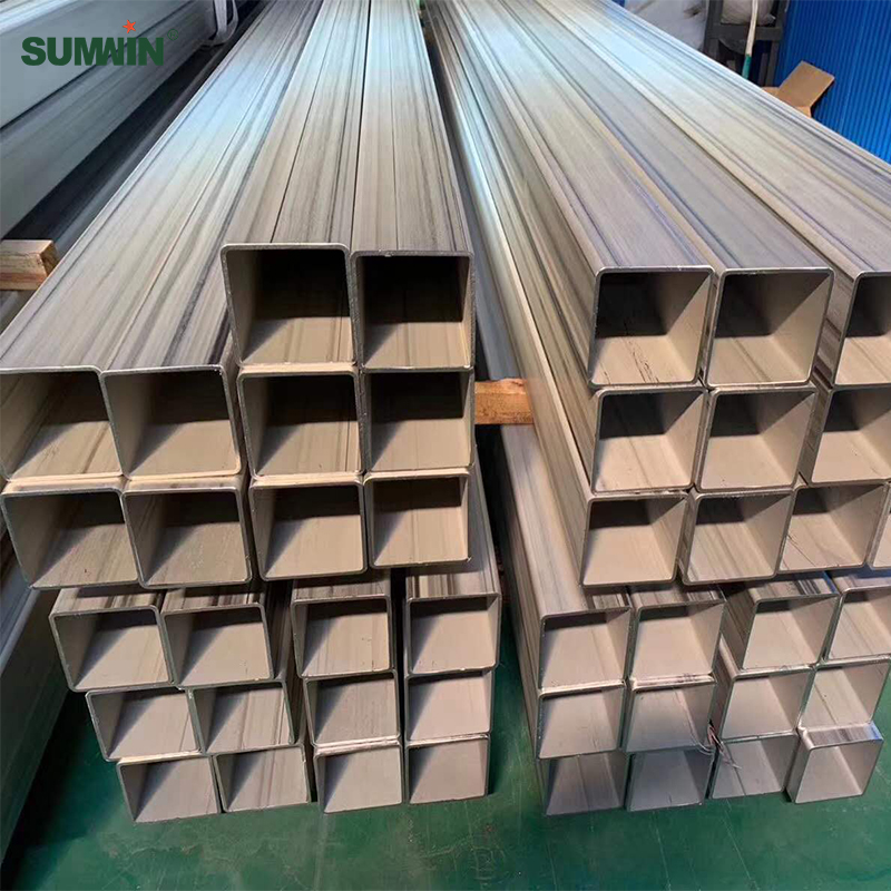 large diameter stainless steel welded square pipe